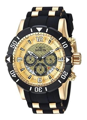 Relógio Invicta 23700 Pro Diver Masculino Banhado A Ouro 18k