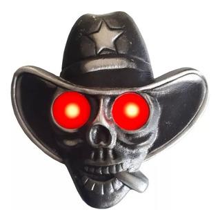 Caveira Cowboy Para Caminhão Iluminada Bivolt Sem Revolver