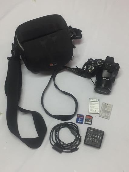 Câmera Semi Profissional Nikon P500 - Usada