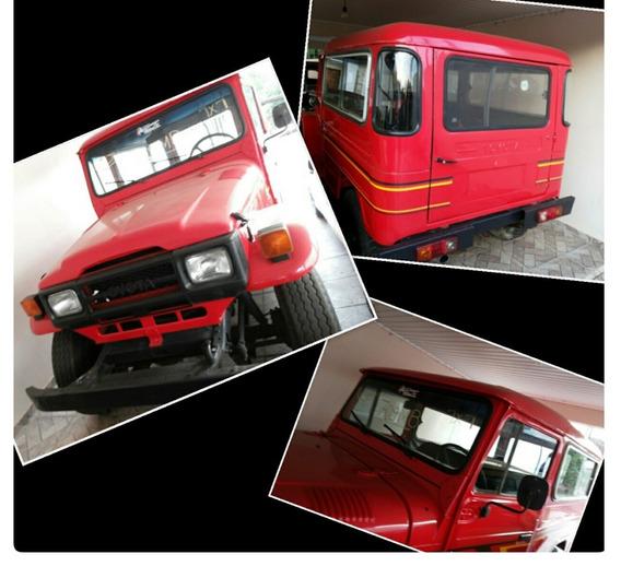 Jeep Toyota Bandeirante Longo, 4x4, Ano 1978, Mod 1991