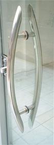 Puxador Inox Arqueado Tubular 1 Polegada X 40cm Comprimento