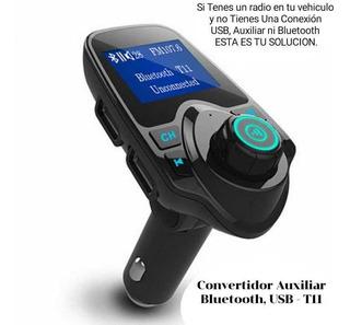 Covertidor Auxiliar Bluetooth Usb