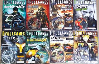 Lote Kit 8 Oito Jogos Revistas Games Pc Novas Frete Grátis
