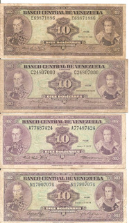 Billete De 10 Bs Coleccion Del 1976 Al 81 Bss. 1.500.000._