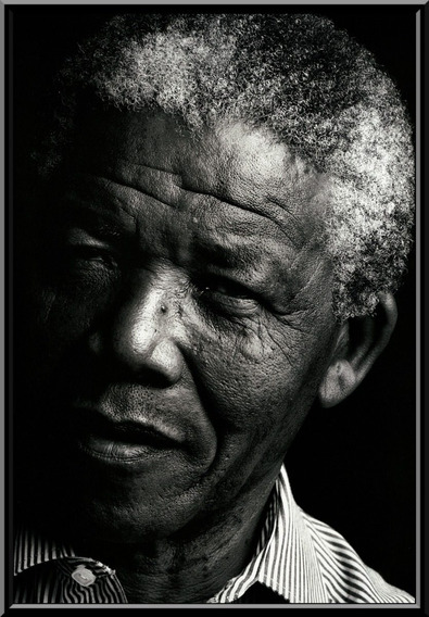 Quadro Nelson Mandela Fotografico 42x29cm