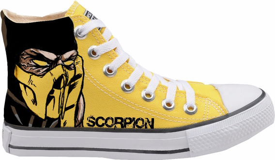 Tênis - Converse All Star Custom Grayfox - Scorpion -amarelo
