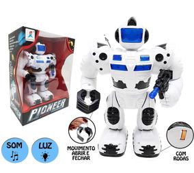 Robô Controle Remoto Luz Som Fala Anda Dança Agente Bing