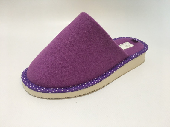 Pantuflas Mujer Algodon Violeta