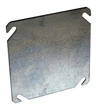 Hubbellraco 87525 Flat Blank Square Cover 4inch