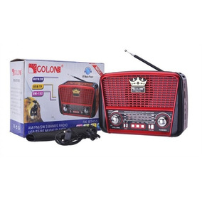 Radio Usb Sd Am Fm Bluetooth Luxo Com Lanterna Recarregavel