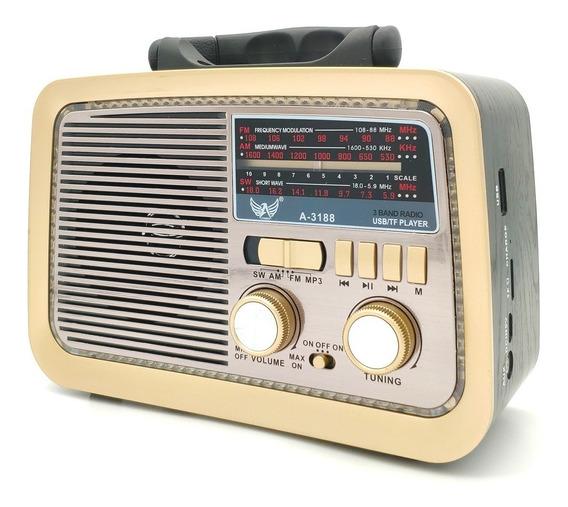 Rádio Retro Vintage Estilo Antigo Usb Bluetooth Fm Am Bivolt
