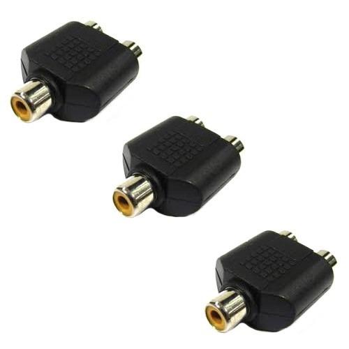 Kit 10 Adaptadores Emendas Duplicadores Rca 2 Femeas Audio