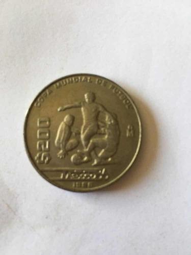 Moneda Mexico $200 1986 Conmemorativamundial Futbol
