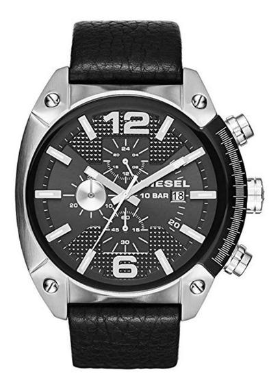 Relógio Masculino Diesel Dz4341 Overflow Preto Original