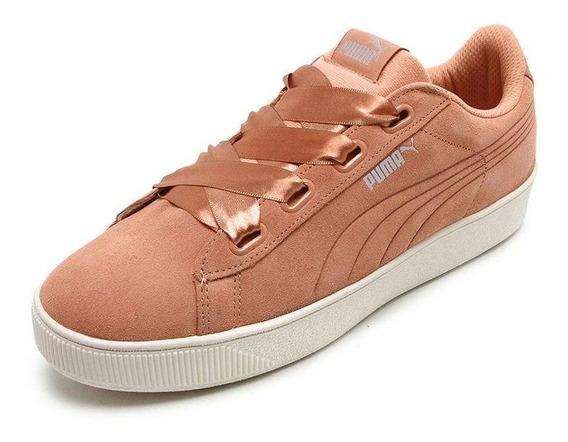 Tênis Puma Vikky Platform Ribbn Feminino - Coral