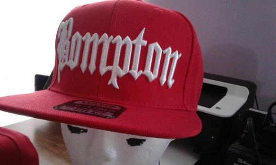 Gorra Bompton Roja Con Blanco