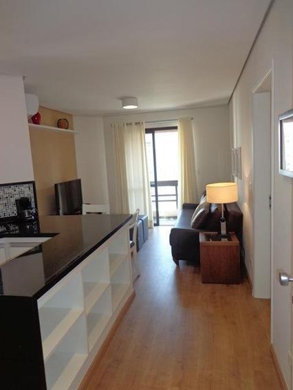 Locação - Excelente Flat Com 1 Dormitório No Itaim Bibi! - Fl4093