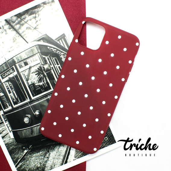 Funda Flexible Puntos Vino iPhone 11 / 11 Pro / 11 Pro Max