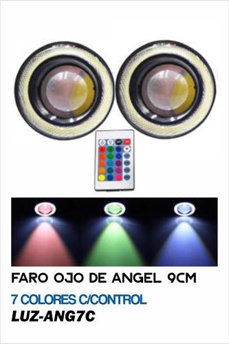 Faro Ojo De Angel 9cm 7 Colores C/control