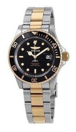 Relógio Invicta 26973 Pro Diver Quartz 40mm Preto E Dourado Original Importado