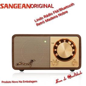 Rádio Mozart Sangean Original Retrô Madeira Fm / Bluetooth