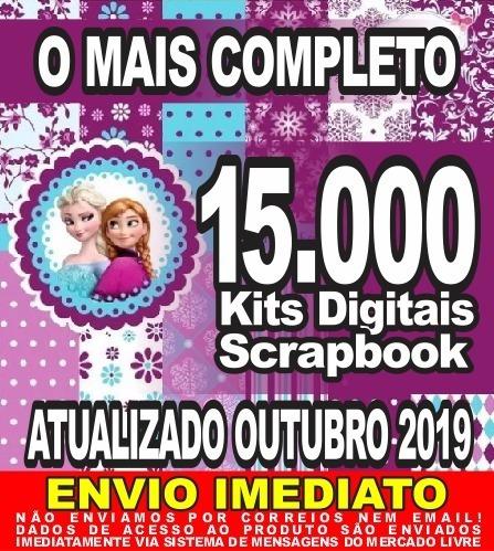 15.0000 Kits Digitais Scrapbook Papel Digital Omais Completo