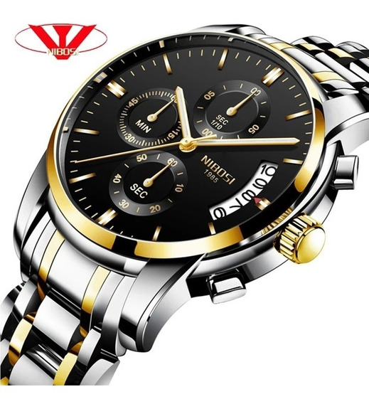 Relógio Masculino Nibosi 2353 - 30m Prata C/ Dourado