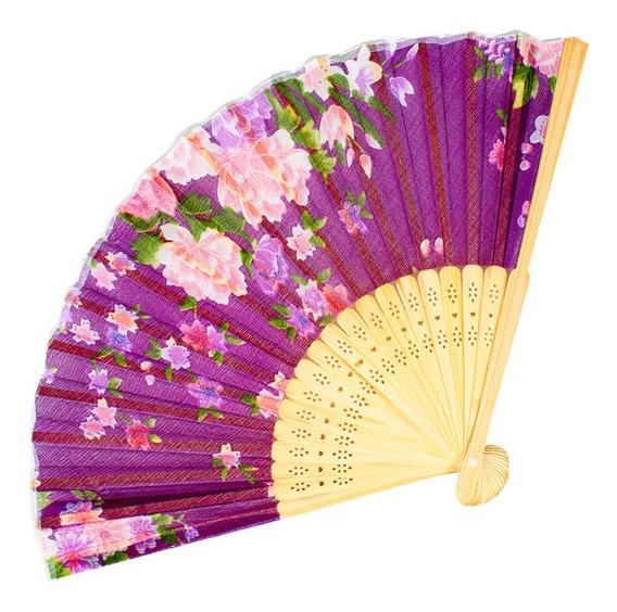 12 Pzas Abanicos Colores Boda Evento Fiesta Mayoreo Recuerdo