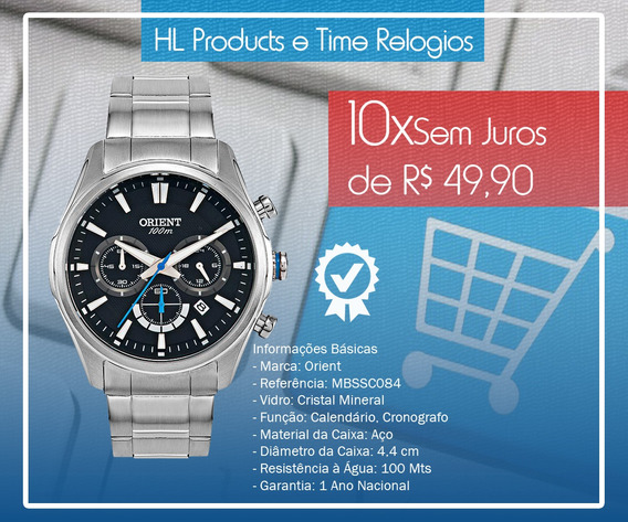 Relógio Orient Cronografo 10atm 44mm Mbssc084