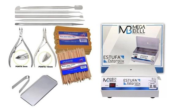 Kit Estufa Esterilizante Kit Manicure Acessórios Mega-bell