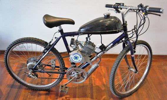 Kit Bicimoto Motor A Gasolina, 80cc, 2t, Rinde 100km/galón