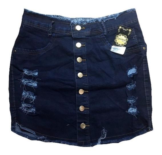 Mini Saia Jeans Curta Plus Size Gordinha