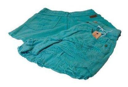 Shorts Jeans Hot Pants Cintura Alta Destroyed Verde