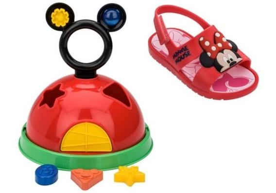 Sandalia Grendene 21996 Mickey E Minnie Infantil