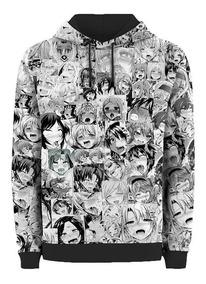 Moletom Capuz Hentai Anime Ahegao