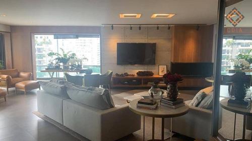 Apartamento Com 4 Dormitórios À Venda, 250 M² Por R$ 3.100.000 - Moema - São Paulo/sp - Ap53498