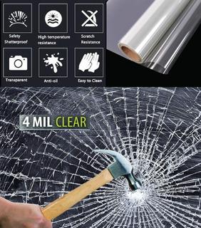 Pelicula Seguridad Anti Estallante Transparente 30m X 1.52m