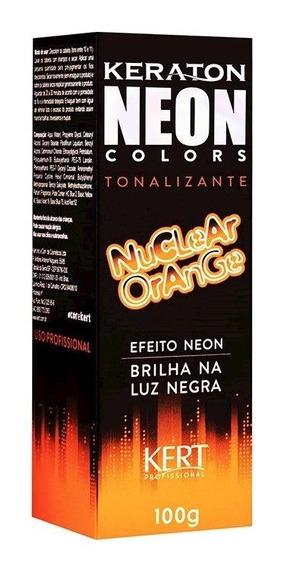 Kit 2 Coloração Keraton Neon Colors Nuclear Orange 100g