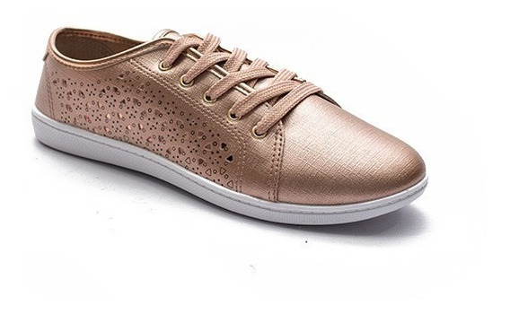 Zapatillas Moleca Urbanas Cuero Sintetico Sneakers Mujer