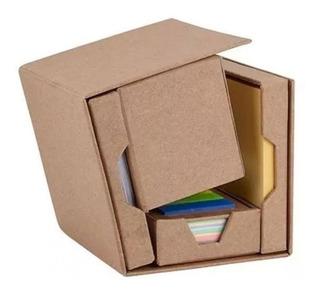 Cubo Oficina Desplegable Porta Notas Clips Lapicera Banderas