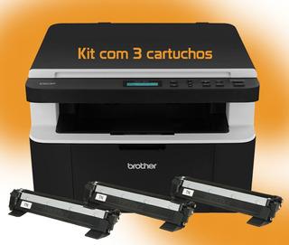 Multifuncional Brother Dcp 1602 Nfe - Kit 3 Toners 220v