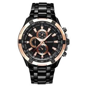 Relógio Masculino Curren 8023quartz Analógico Aço Inoxidavel