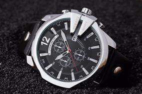 Relógio Masculino Couro Prova D´água De Luxo- Pronta Entrega