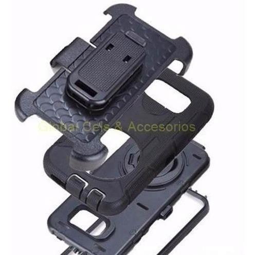 Case Samsung Galaxy S6 Con Gancho / Mica Integrada / 4 Capas
