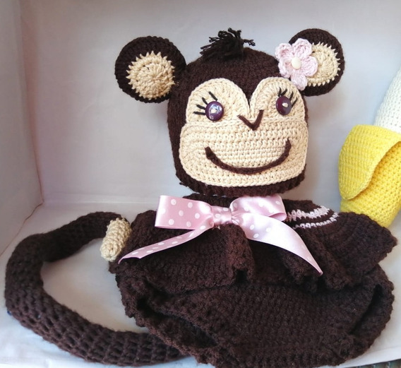 Disfraz De Changuita Para Bebé Tejido Para Sesión De Fotos