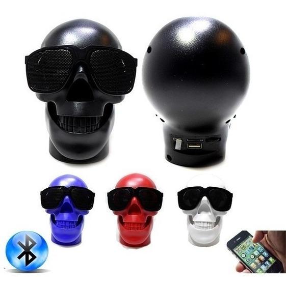 Caixa De Som Bluetooth Caveira Portatil Super Kit 3 Unidades
