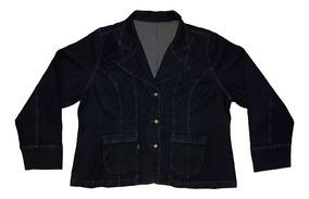 Blazer Jeans Feminino Plus Size Tamanhos Gg2 E Gg3