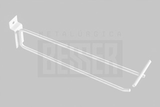 Gancho Porta Preço P/ Painel Canaletado 15cm - 50 Unidades
