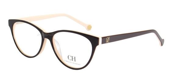 Armação Oculos De Para Grau Carolina Herrera Ch650v Acetato