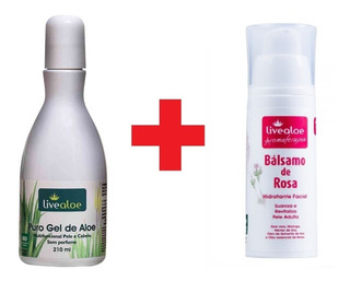 Puro Gel De Aloe + Bálsamo De Rosa Live Aloe